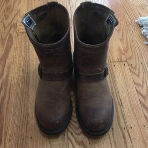 Dark Brown Frye Engineer Boots Sz 9